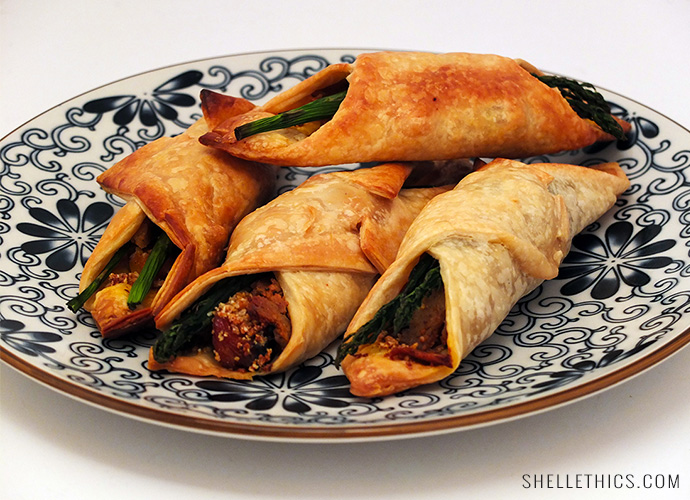 Pumpkin-and-Asparagus-Puff-Pastry-Rolls
